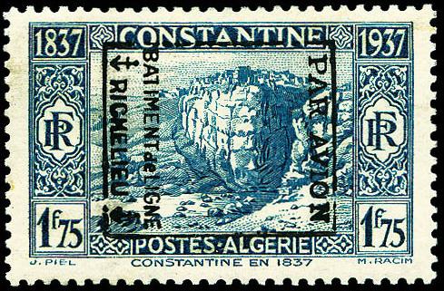 surcharge Richelieu sur timbre Algérie
