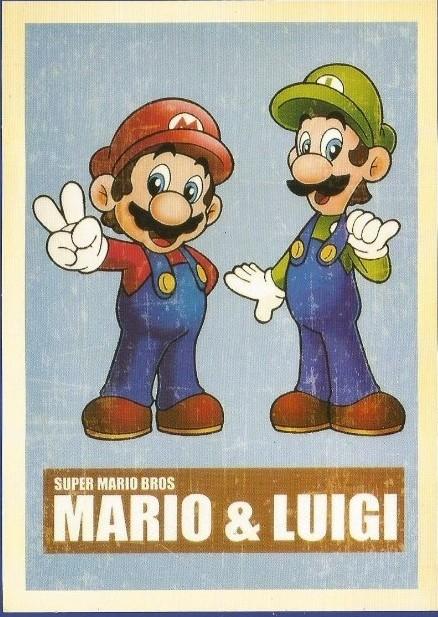 Postal de la colección Mario Bros