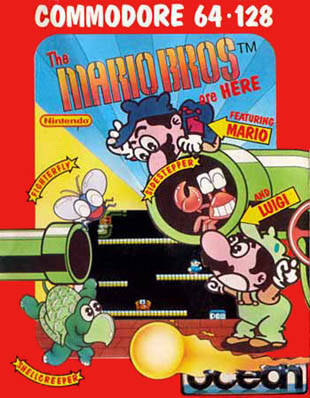 Gioco Mario Bros per Commodore 64, copyright Nintendo