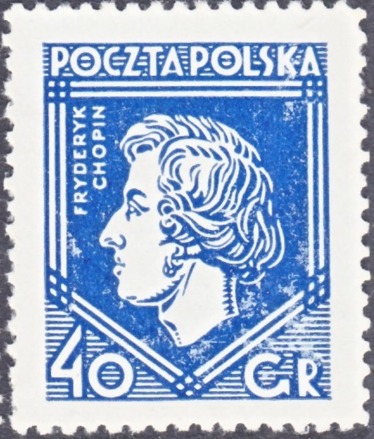 Timbre Chopin Pologne