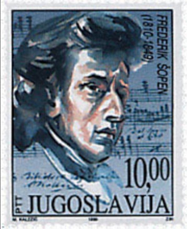 timbre chopin Delcacroix Yougoslavie