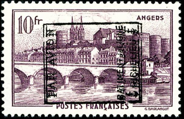 surcharge Richelieu sur timbre angers