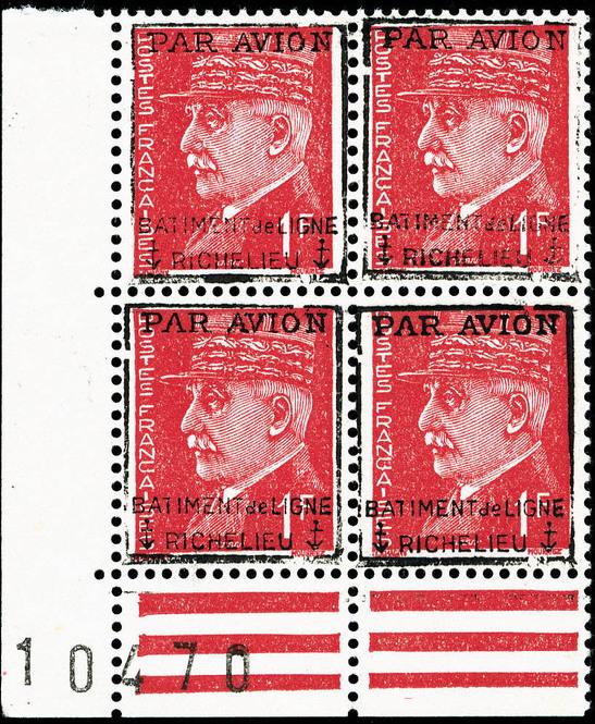 surcharge Richelieu sur timbres Pétain