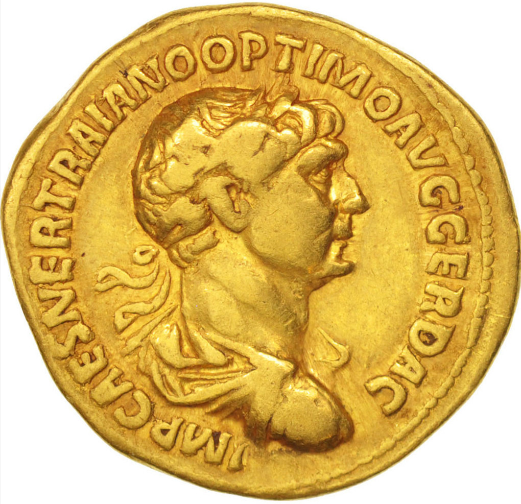 pièce sesterce or Trajan