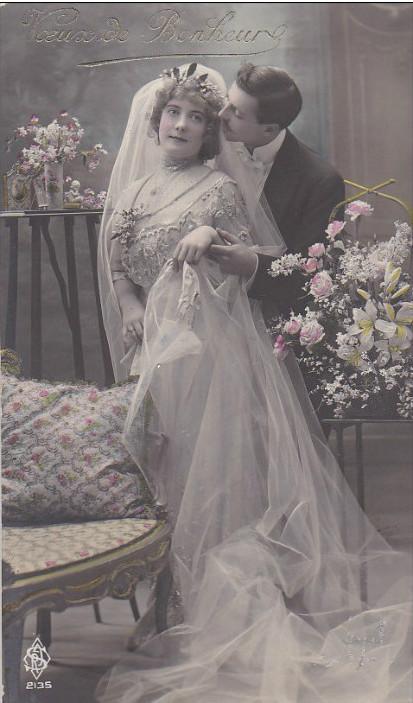carte postale ancienne couple 1900