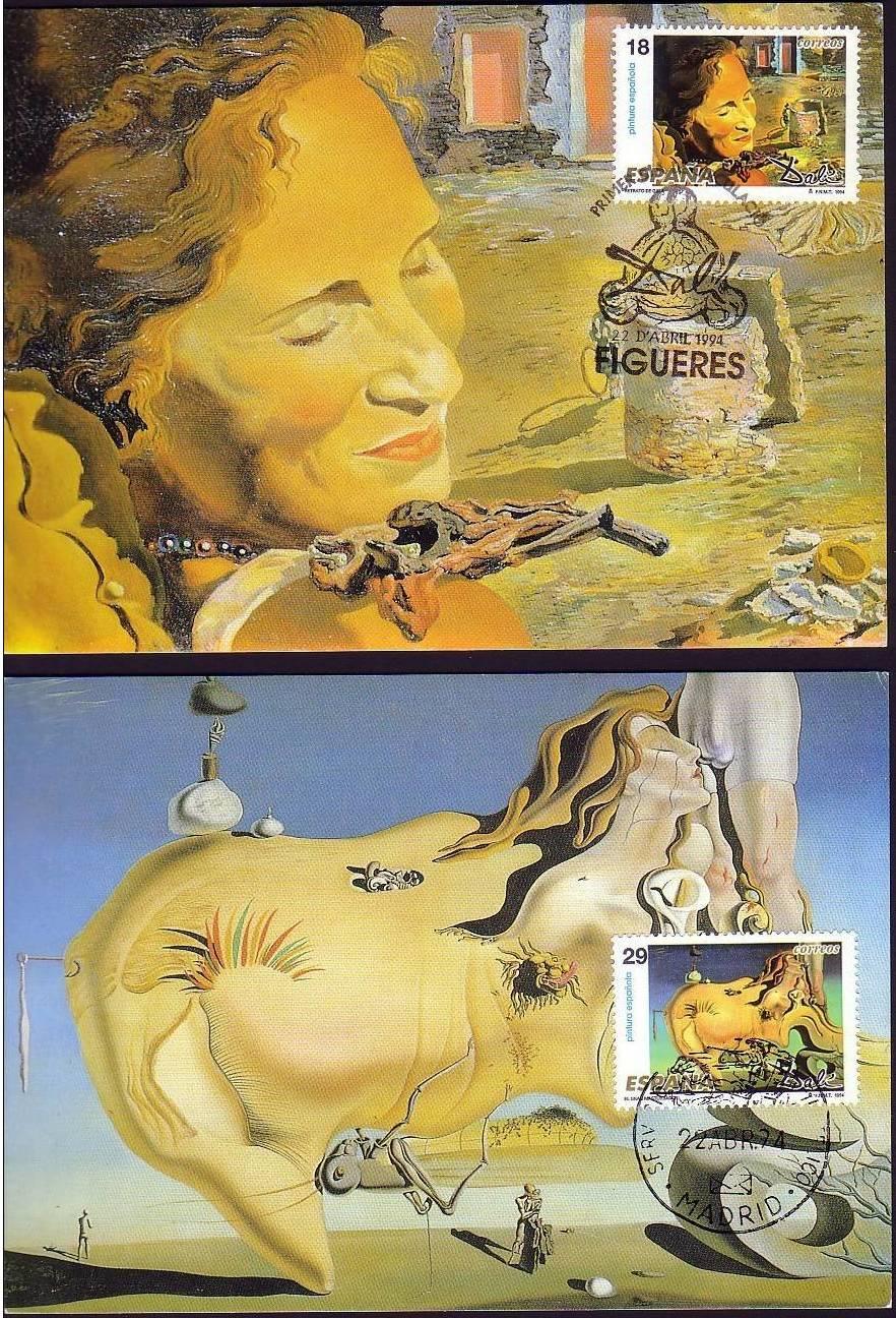 España 2004, postales gran tamaño Dalí