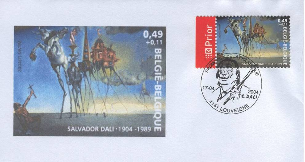 Bélgica 2004, sobre decorado primer día de Dalí