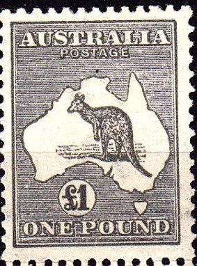 timbre australie kangourou