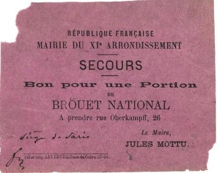 rationnement brouet Paris