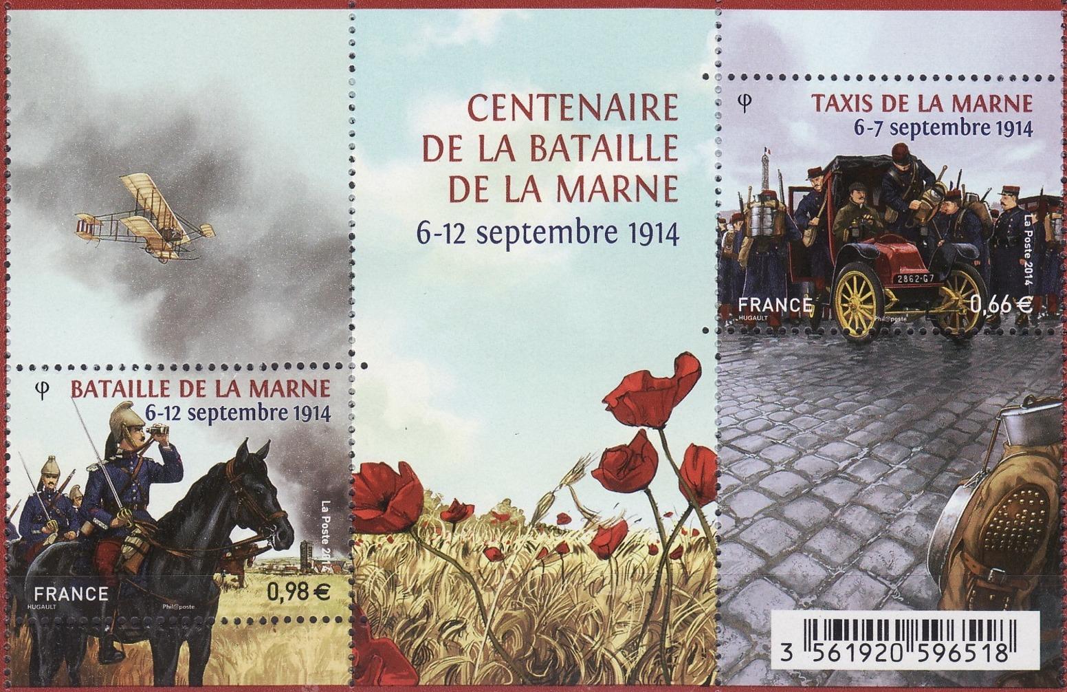 bloc timbres bataille de la Marne