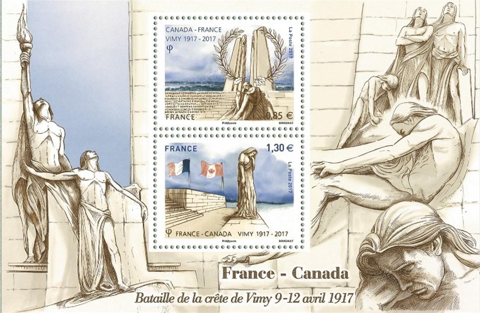 bloc timbres bataille de Vimy