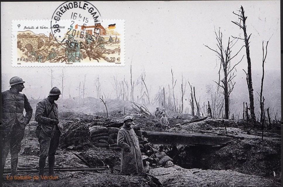 carte maximum bataille de Verdun