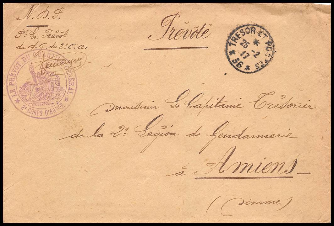 Courrier ancien bataille de la Somme