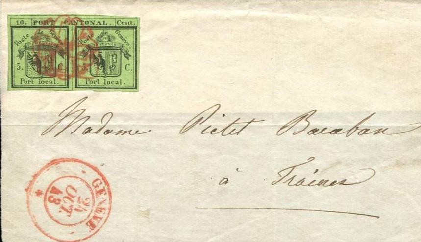 Les premiers timbres de Suisse (1843-1848)