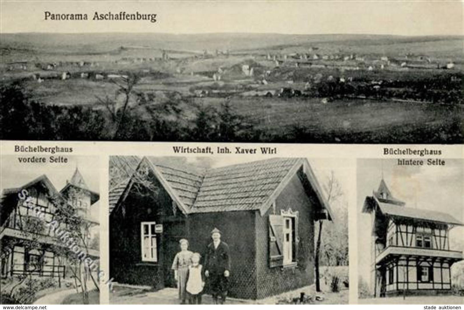 Aschaffenburg, Gast¬wirtschaft von Xaver Wirl, Büchelberghaus, verkauft bei Stade für 290,– €.